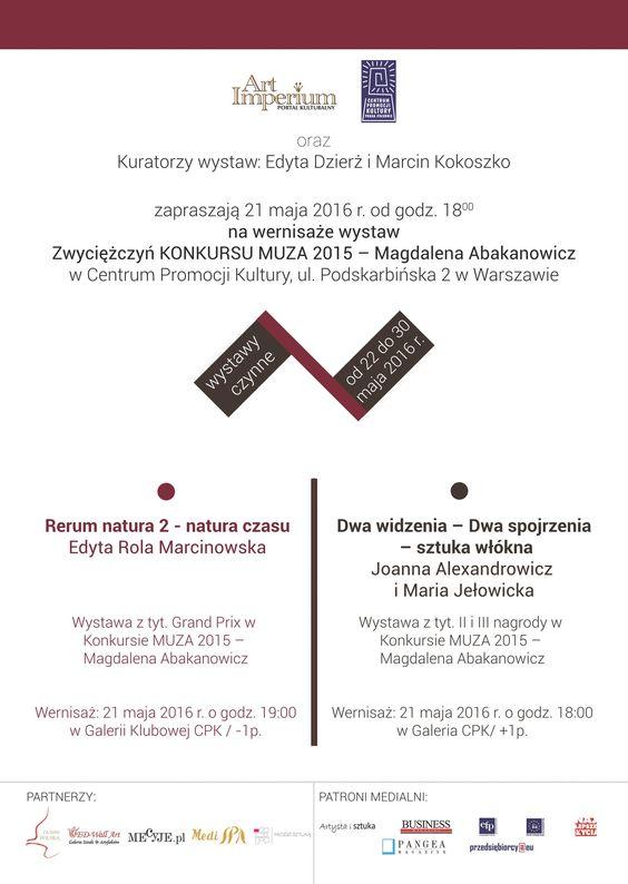 Wystawy zwyciężczyń -  Konkurs MUZA 2015 - Magdalena Abakanowicz