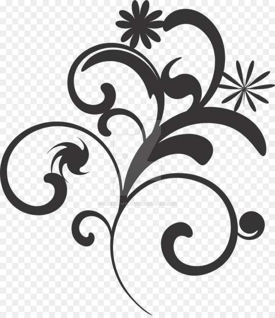 18 Flower Design Black And White Png White Flower Png Floral Vector Png Flower Border Png
