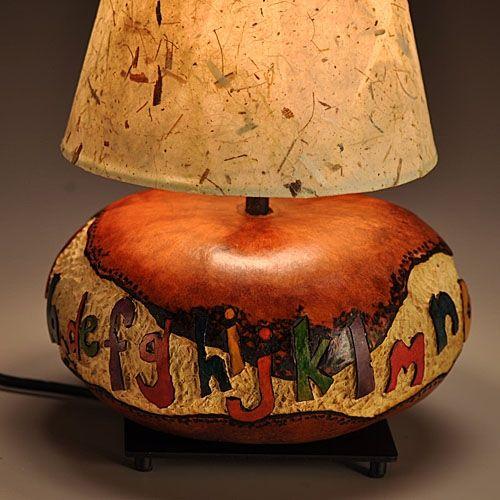 Alphabet Design Gourd Lamp And Gourds On Pinterest
