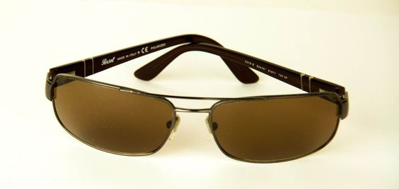PERSOL POLARIZED 2279-S 834/57 MENS SUNGLASSES MADE IN ITALY GREAT CONDITION WOW #Persol #Rectangular