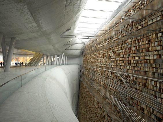 Stockholm. #Bibliothek #Bücherei #lesen #Architektur #Design #Bücher #Buch