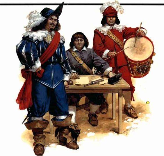 English Civil War costumes