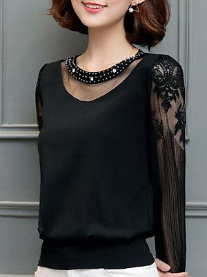 55 Black Blouses For Party That Look Fantastic outfit fashion casualoutfit fashiontrends