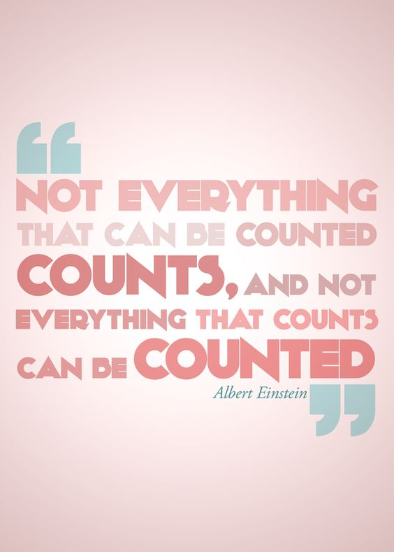 Not everything that can be counted...