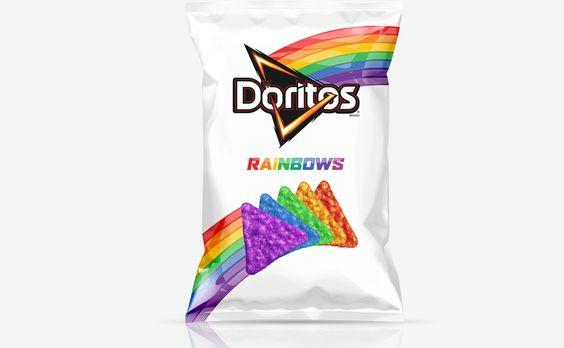 Doritos da cor do arco-íris - http://superchefs.com.br/doritos-da-cor-do-arco-iris/ - #Doritos, #LGBT