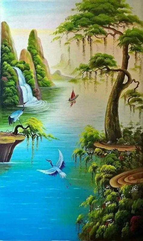 Fondos De Pantalla De Paisajes Naturales Beautiful Nature Pictures Beautiful Landscape Wallpaper Nature Art Painting