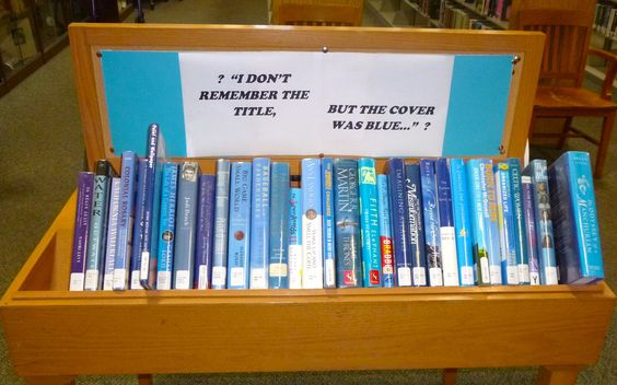 """I don't remember the title, but the cover was blue."" ~ librarian humor :)"