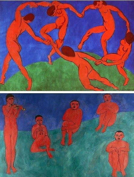 """Arteeblog: A história das obras de arte """"Dança II"""" e """"Música"""" de Henri Matisse - 1910 (e mais uma surpresa)"""