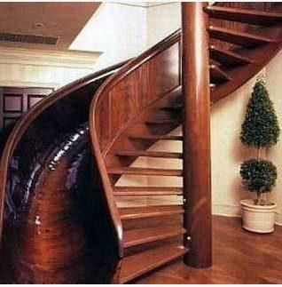 slide and spiral staircase