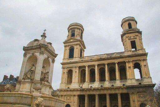 Fontaine et église St Sulpice - Paris 6e