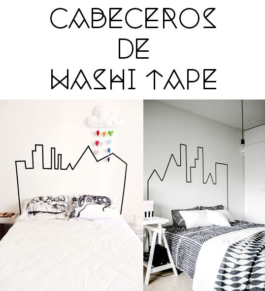 cabeceros, headboards washi tape