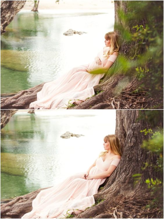 Sew Trendy Accessories- Faythegown. SSP maternity shoot in Concan, TX
