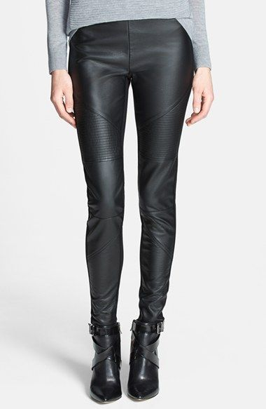 Just purchased these!!!!  Fall cannot come soon enough!!!  Trouve Trouvé Faux Leather Front Leggings available at #Nordstrom