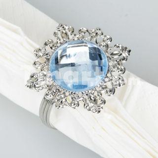 Wedding Blue Gem Napkin Ring