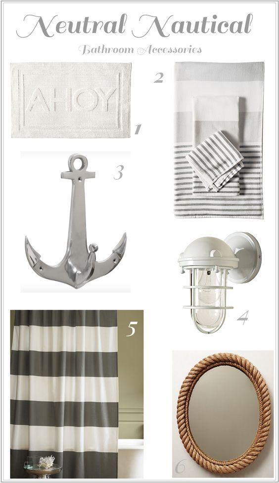 Neutral Nautical Bathroom Accessories