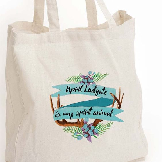 """New to DesignGenesStudio on Etsy: April Ludgate eco tote bag """"April Ludgate is my spirit animal"""" tote Parks and Rec fan girl gift Book lover gift Canvas Eco Tote Bag (17.50 USD)"""