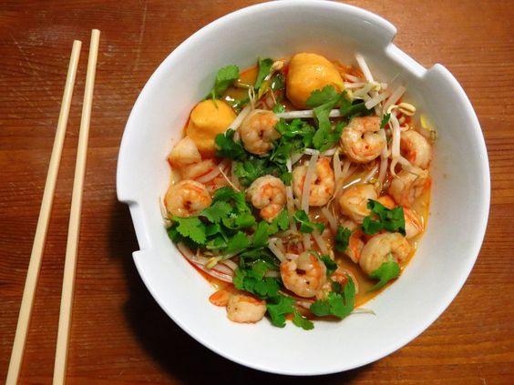 Katia au pays des merveilles: Soupe Laksa aux crevettes