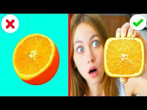 Sdelala Kvadratnyj Apelsin Za 1 Minutu Proverka Lajfhakov Ot Beri I Delaj Youtube Fruit Orange Food
