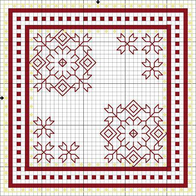 Flores no Jardim - Lee Albrecht: Free blackwork pattern