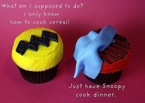 Charlie Brown cupcakes