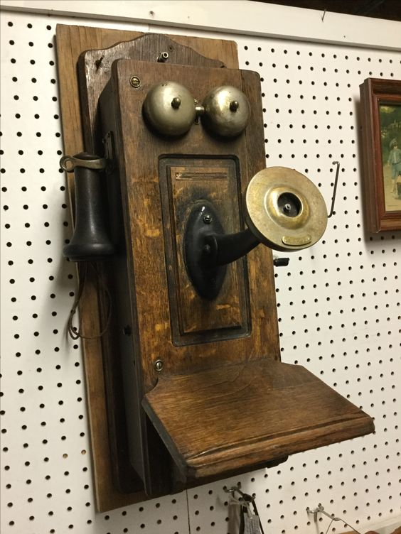 vintage Stromberg Carlson crank wall telephone (mouthpiece is included, not pictured) $175 in Room 109
