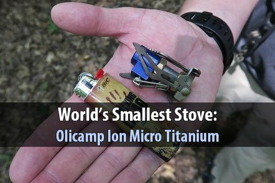 World's Smallest Stove: Olicamp Ion Micro Titanium