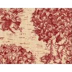 """Curtain Panels, Crimson Toile, Crimson Red, 96"""", Unlined - Traditional - Curtains - by Close to Custom Linens"""