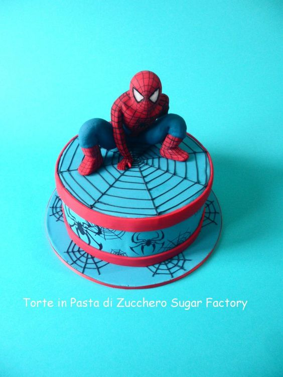 spiderman cake by torte in pasta di zucchero torte in pdz pinterest foto torte e pasta. Black Bedroom Furniture Sets. Home Design Ideas