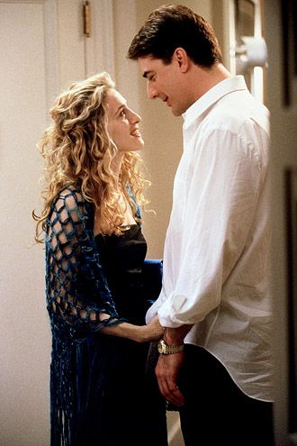 Carrie and Mr. Big (Sarah Jessica Parker and Chris Noth) #SexAndTheCity