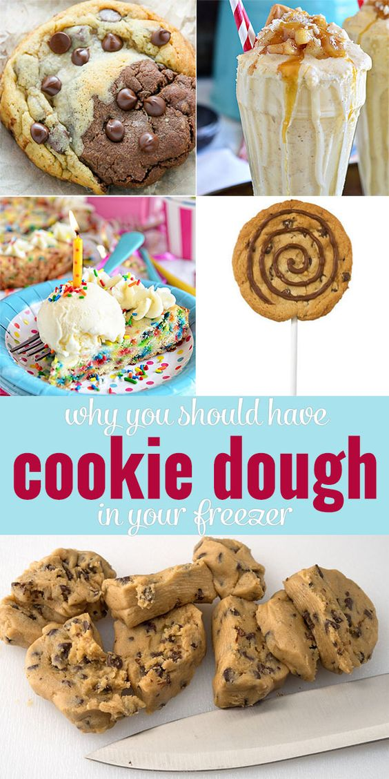 Why you should have cookie dough in your freezer! You can make SO much more than cookies with that dough! Click through to learn more!