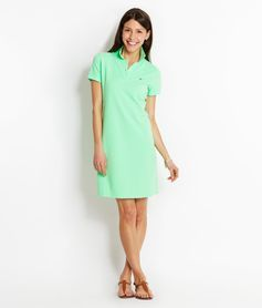 Garment-Dyed Classic Polo Dress