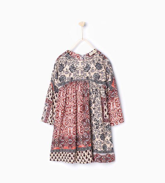 Kleid mit Halstuchprint