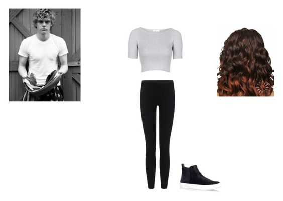 """hanging out with evan peters"" by ponyboy1617 ❤ liked on Polyvore featuring Topshop and James Perse"