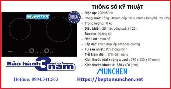 Bếp từ Munchen G60 BK có xuất xứ ở đâu?