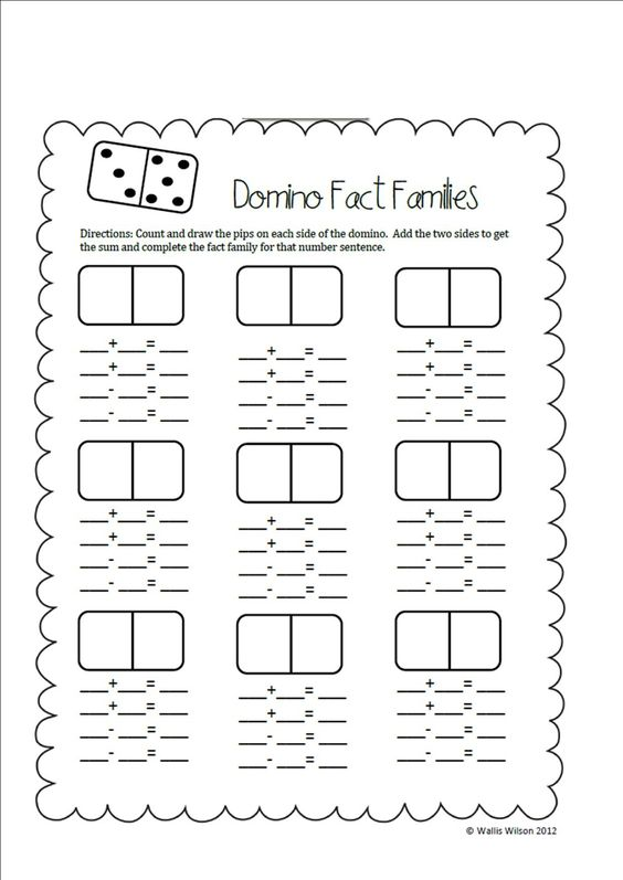First Grade Wolves: Search results for domino fact families ...