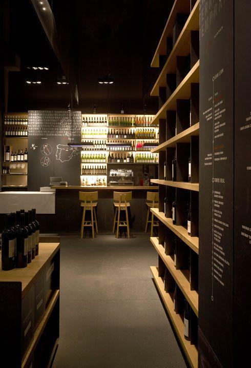 The minimalist wine bars and wine on pinterest for Modern wine bar design