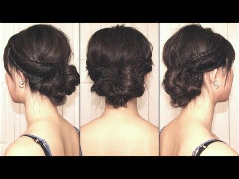 Hair    How To.  Braided & Twisted Asymmetrical Grecian Bun ~  inspired by Lauren Conrad the look that Bella wore to her wedding in Twilight.