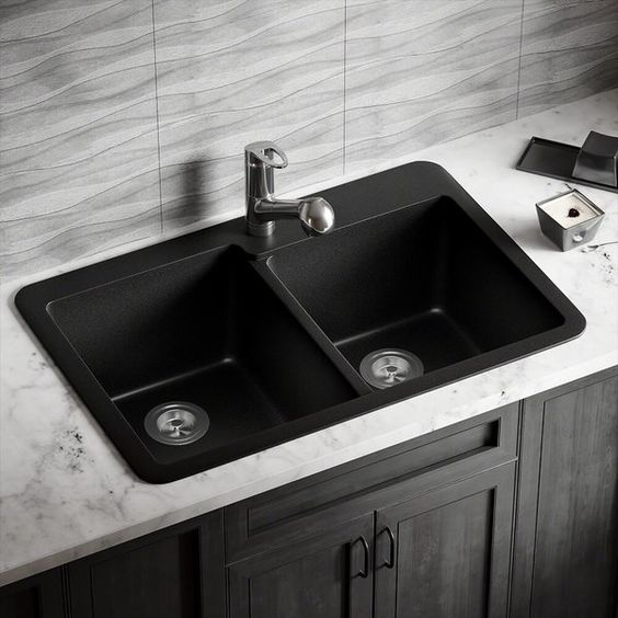 The MR Direct TruGranite sink comes in many different shades, all of which have the same exciting features; not the least of which is its TruGranite composition. A balance of 80% quartzite and 20% acrylic, makes for a very dense, nearly impervious substance with a smooth non-porous finish that provides the sink with anti-bacterial properties. It is nearly impossible to scratch or stain because of its density, and it can withstand extreme temperatures - a dropped knife will not scratch, acidic...
