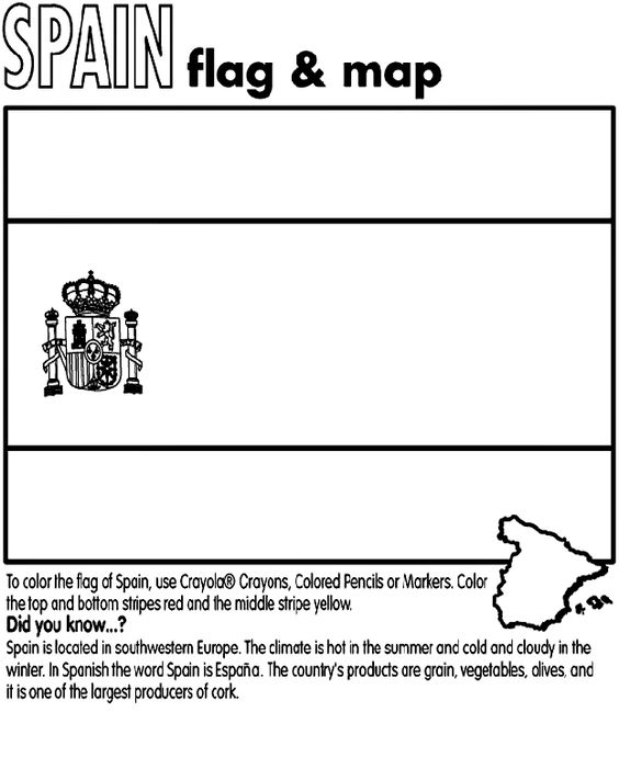 spain country coloring | Spain coloring page | Flaggor | Pinterest ...