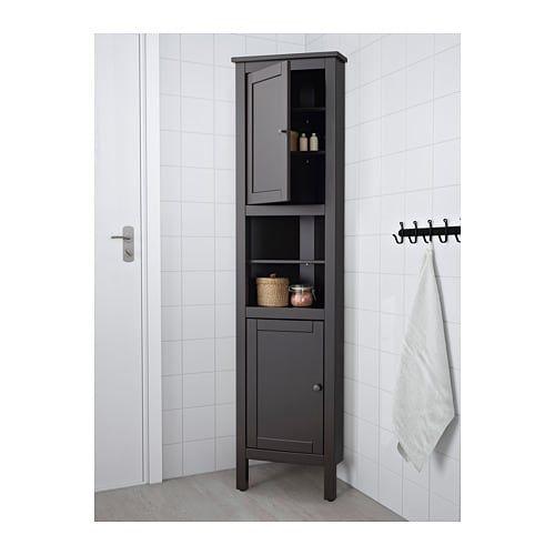Ikea Hemnes Black Brown Corner Cabinet Bathroom Corner Cabinet Ikea Corner Cabinet Small Bathroom