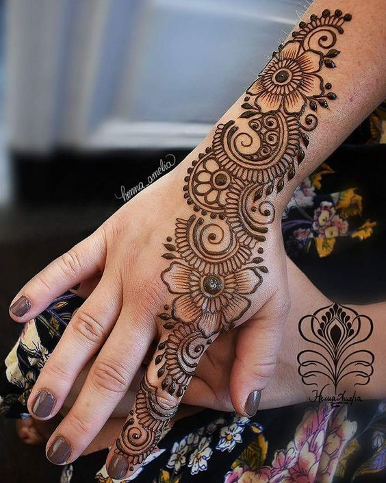 mehandi design for girls back hand