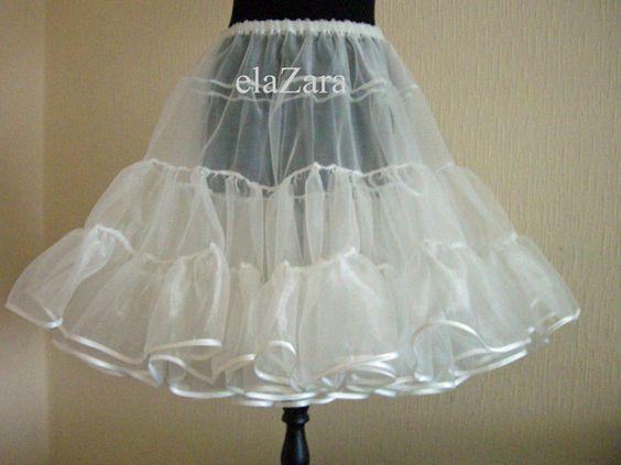 Petticoat & Unterrock - 50er Jahre Petticoat aus Organza...sehr angeneh... - ein Designerstück von elaZara bei DaWanda