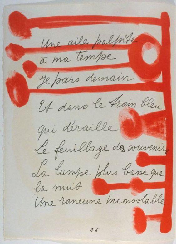 Design for page 26 of the book Le Chant des morts (The Song of the Dead) by Pierre Reverdy (Paris: Tériade Editeur, 1948)