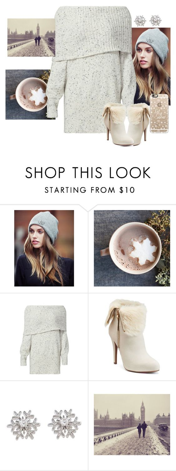 """snowflakes"" by lausantos ❤ liked on Polyvore featuring Lipsy, Joie, Jennifer Lopez, Chopard, TAXI and Casetify"