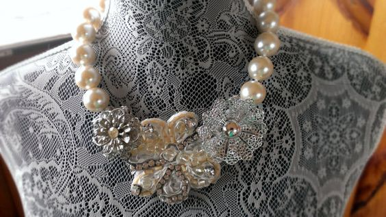 Vintage Flowers Necklace, By - Simple Creations By Sam