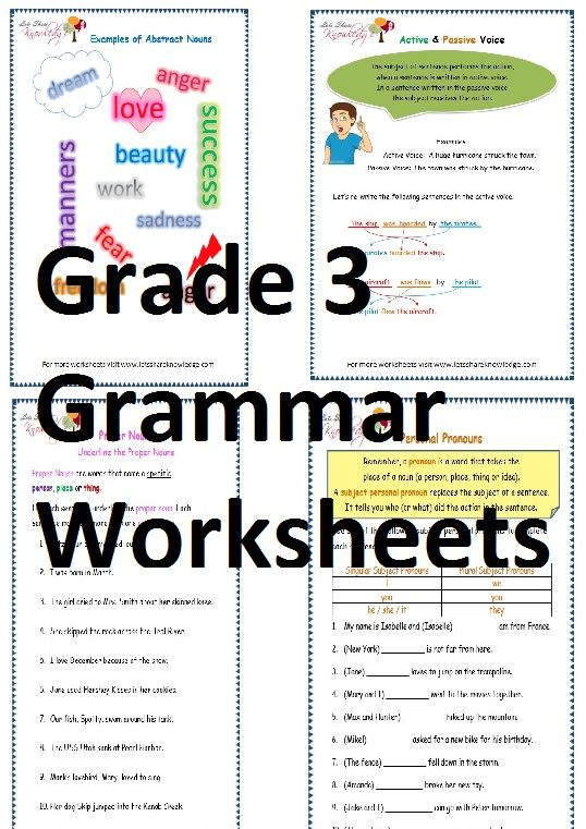 Grade 3 English Grammar Worksheets With Images Worksheets For