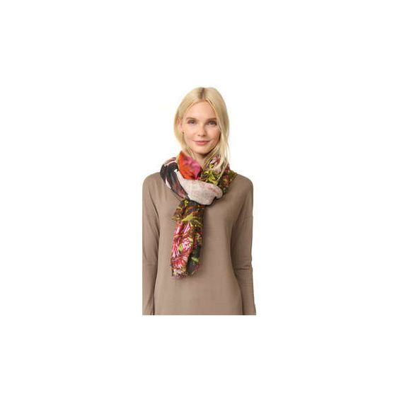 Yigal Azrouel Printed Scarf ($385) ❤ liked on Polyvore featuring accessories, scarves, yigal azrouÃ«l and yigal azrouel scarves