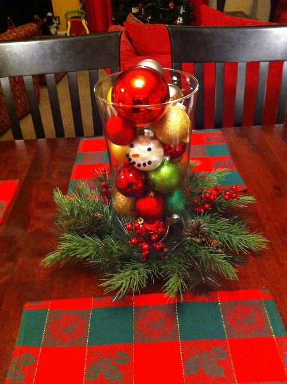 Christmas table center piece