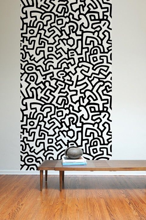 Keith haring pattern wall tiles keith haring bureaux Carrelage keith haring