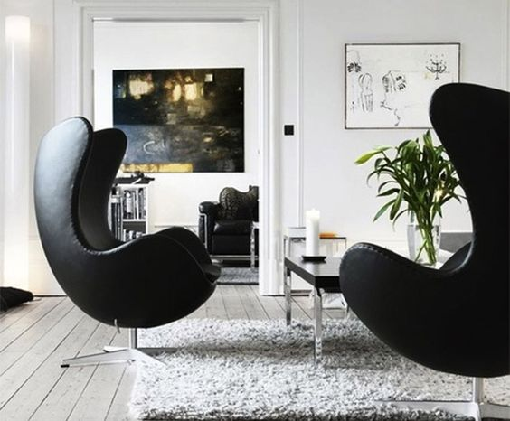 TOUCH dieses Bild: Der #EggChair in Leder ist ein eleganter Lounge Sessel., ... by Pop Furniture